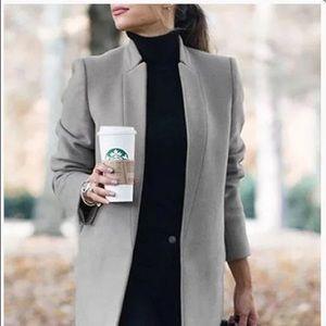 XL Open front grey cardigan blazer